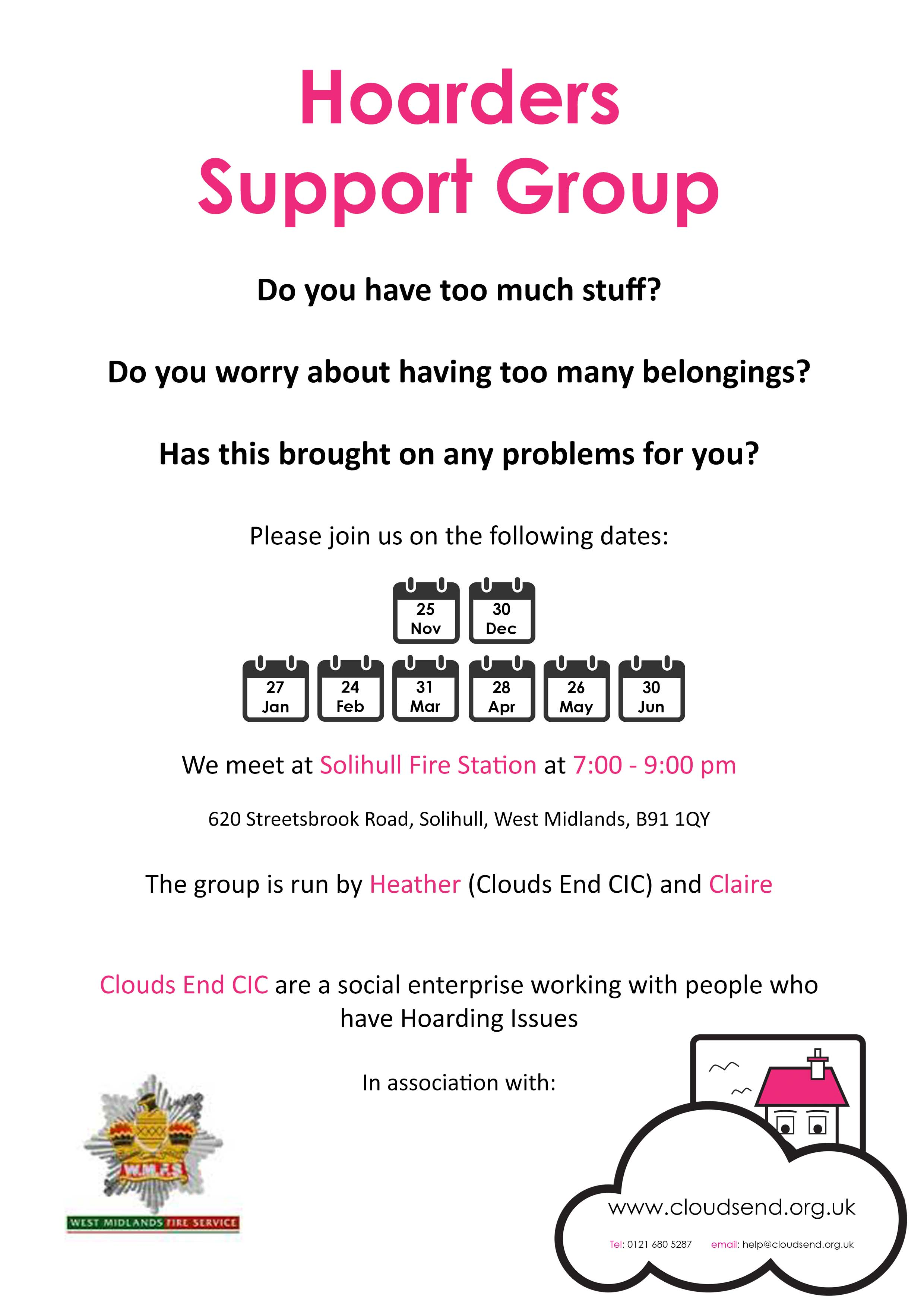 CE - A4 Support Group Poster