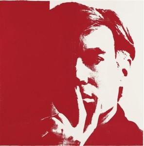 Hoarder Andy Warhol, self portrait