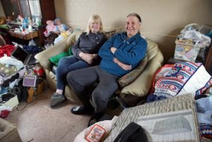 Obsessive hoarder Sue and husband Neil