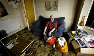 Hoarder Arthur Porter at his Coventry home - Clouds End