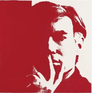 Hoarder Andy Warhol, self portrait