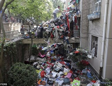 Elderly Hoarder Collected so Much Junk That It Spilled Out of His House