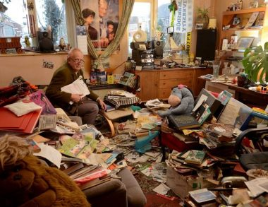 Hoarder admits it's time for a tidy up after 30 years