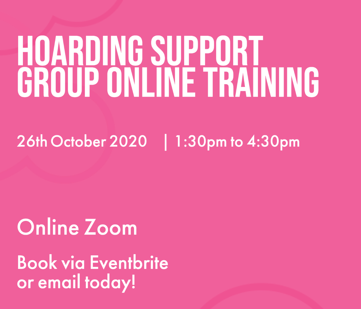 Hoarding Support Group Online TrainingClouds End CIC